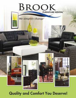 Brook Furniture Rental's Residential Interactive Brochures