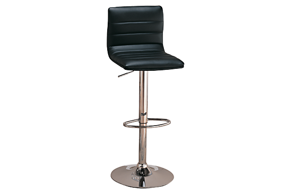 Aero Black Adjustable Ht Stool
