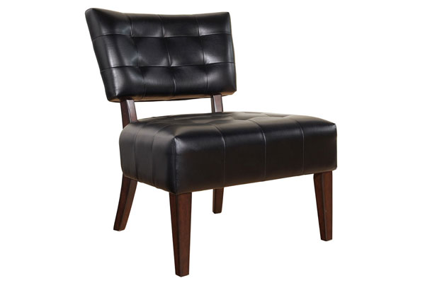 Bali Black Leather Chair