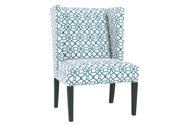 Luxe Teal Bella Teal Ottoman Lido