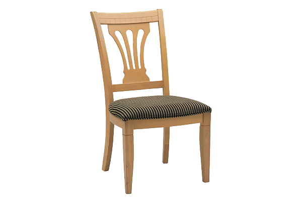 Checkers Maple Side Chair