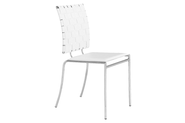 Criss Cross White Dining Chair
