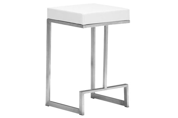 Darwin White Counter Stool