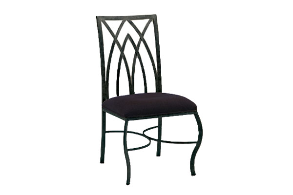 Gothic Dining Chair With Black Seat