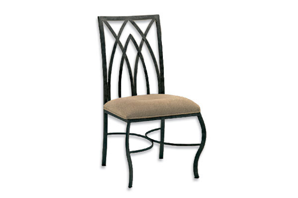 Gothic Dining Chair With Tan Seat
