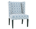 Bella Teal Wing Chair