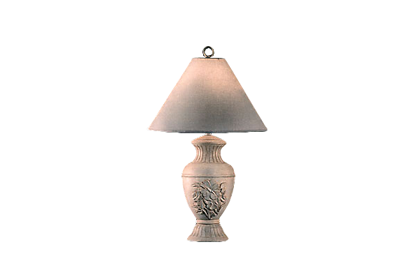 Silver Floral Embossed Urn Lamp