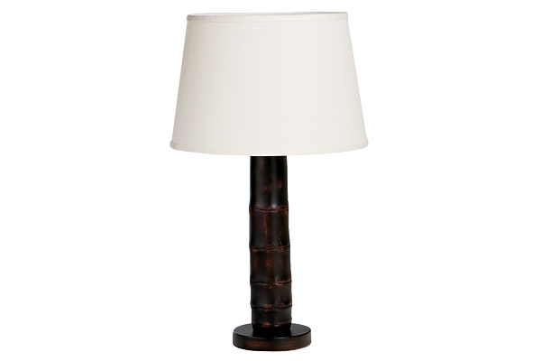 Rubbed Bamboo Table Lamp