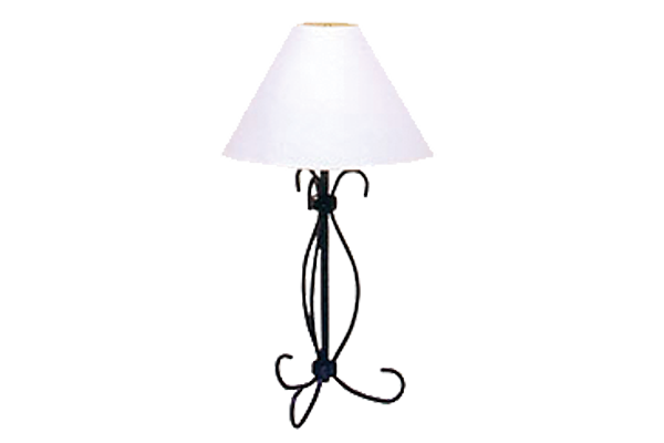 Iron Black Curly Table Lamp