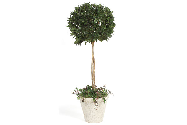 Silk Bayleaf Topiary Tree