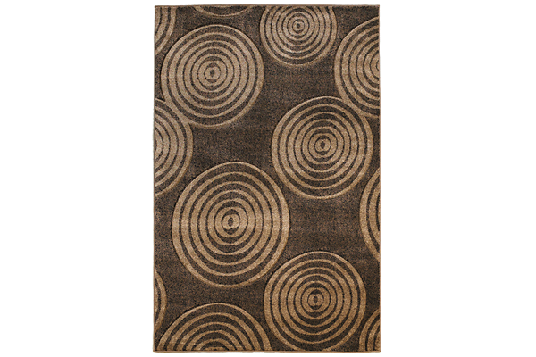 Brown Spheres Rug