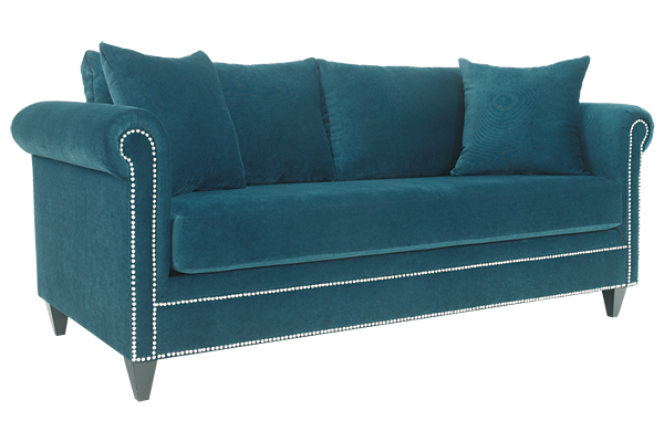 Luxe Teal Sofa for Rent