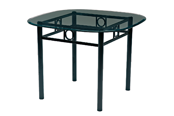 Biedermeir Iron Dining Table For Rent Brook Furniture Rental