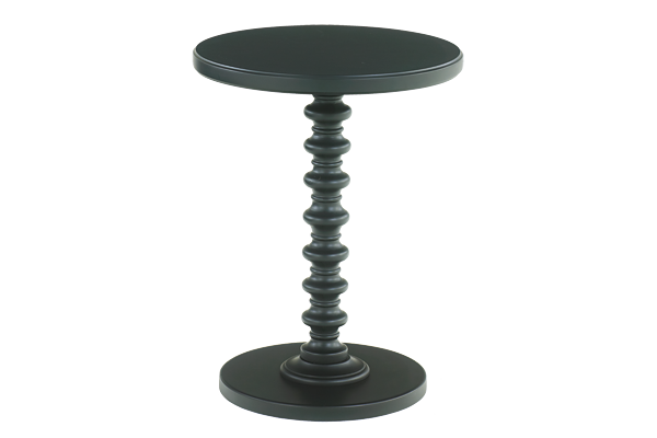 Spindle Black Accent Table