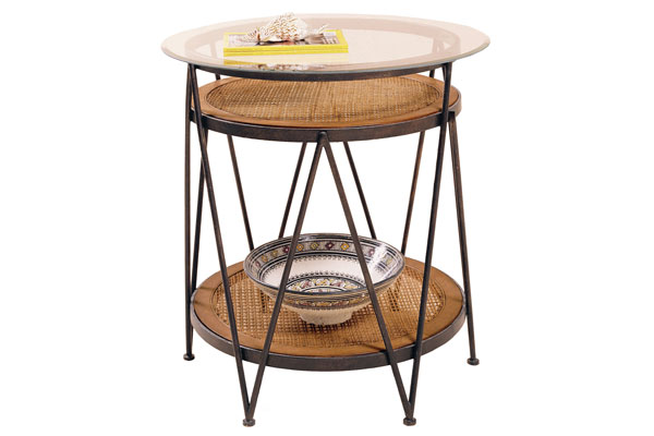 Tropic Winds Round Metal End Table