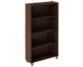 Edge 4 Shelf Walnut Bookcase