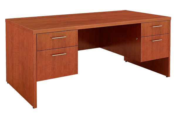 Cognac Executive Double Pedestal Desk