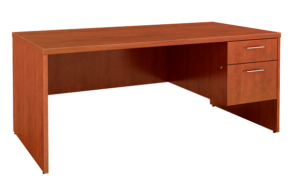 Cognac Right Pedestal Desk