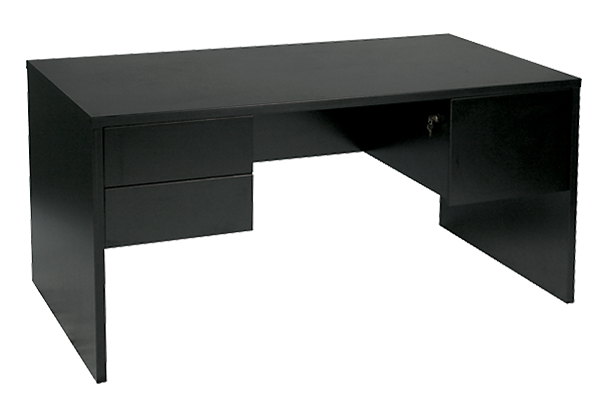 Black Metro 5ft Double Pedestal Desk for Rent | Brook Furniture Rental