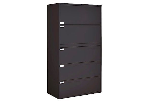 Five Drawer 3ft Black Lateral File