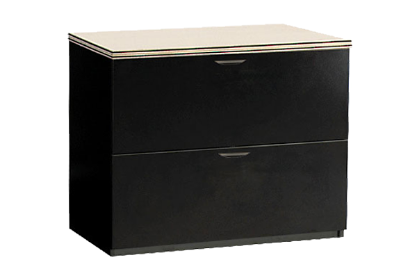 Sandstone Black Two Drawer Lateral File