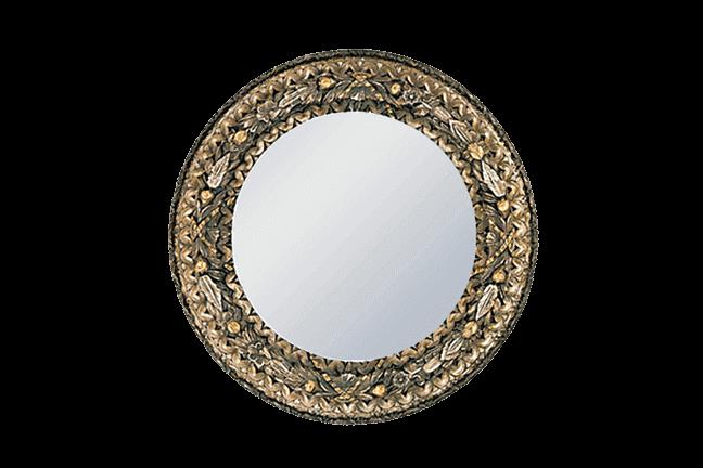 Gold Silver Round Mirror