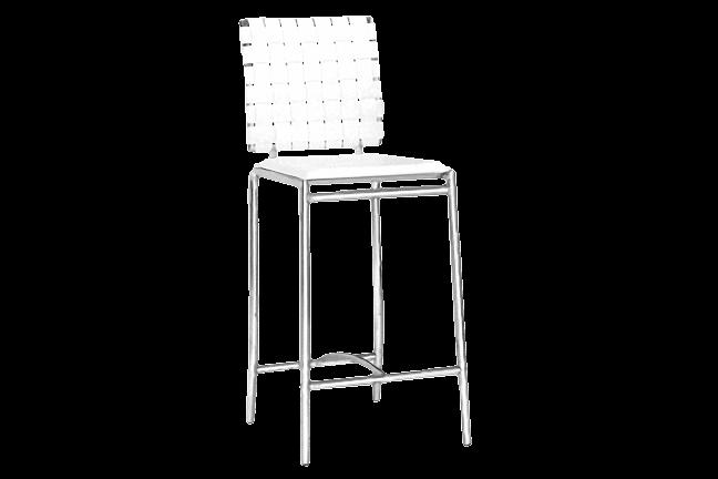 Superb Criss Cross White Counter Stl For Rent Brook Furniture Rental Inzonedesignstudio Interior Chair Design Inzonedesignstudiocom