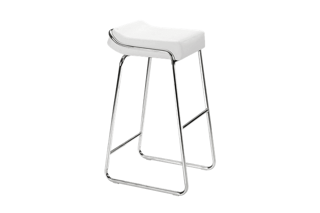 wedge white bar stool