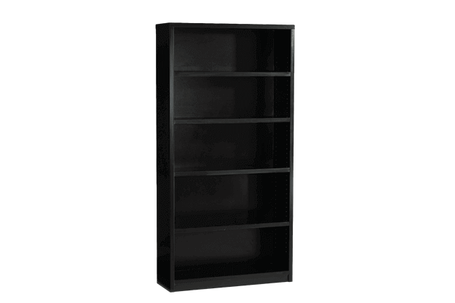 Black 6ft Tall Bookcase