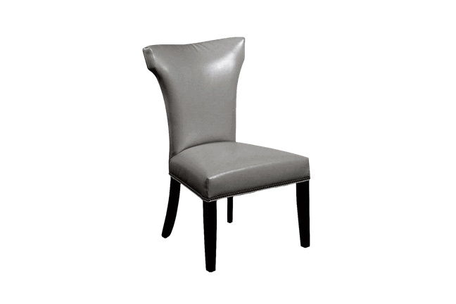 cap sleeve gray dining chair
