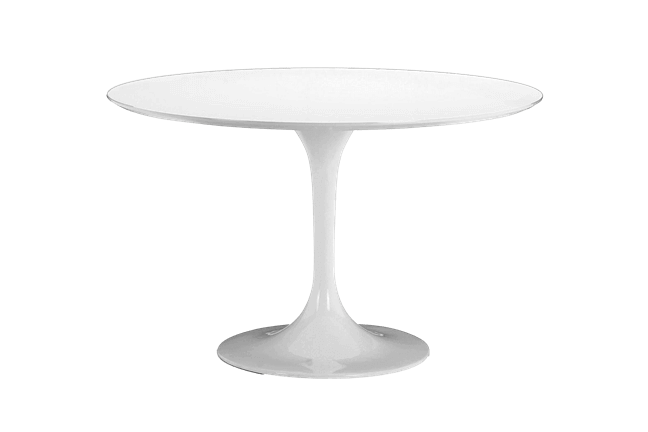 Wilco White Round Dining Table For Rent Brook Furniture Rental