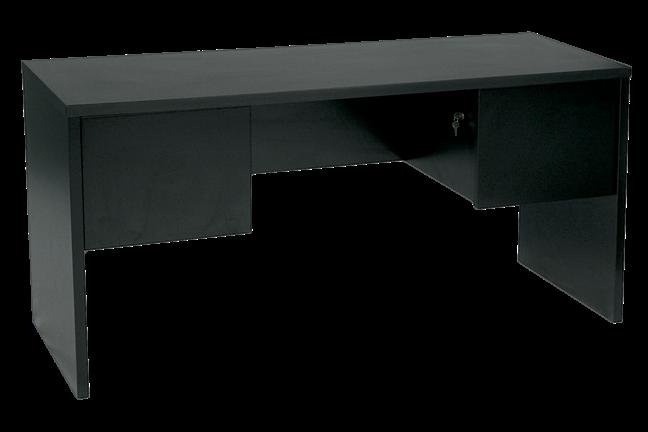 Exceptionnel Black Metro 6Ft Double Pedestal Credenza
