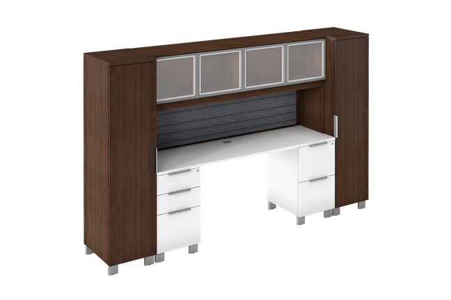 Edge Credenza With Hutch