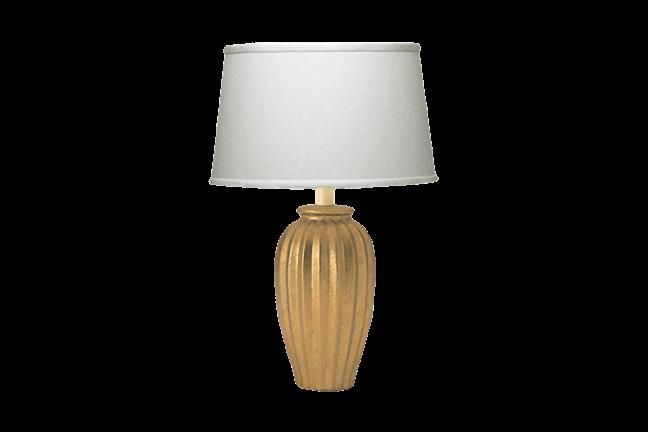 - Antique Gold Fluted Lamp For Rent Brook Furniture Rental