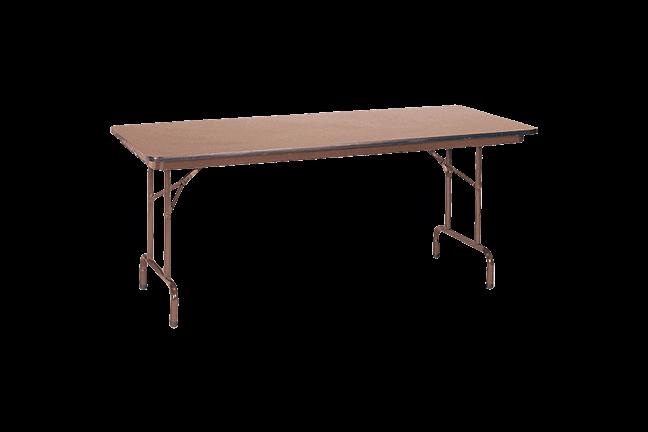 6u0027 utility table 18x72 walnt - Utility Table