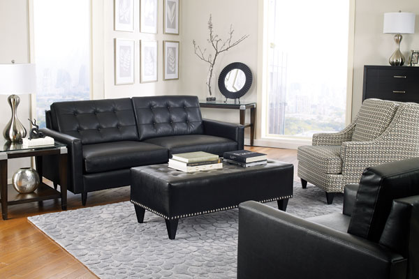 Ford Black Ottoman Dunhill Kelly Graphite